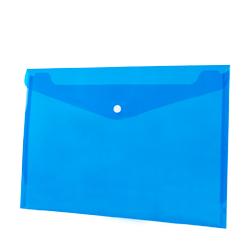 Koperta na zatrzask PP A4 BT611 niebieska